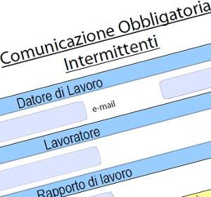 Comunicazione chiamata lavoro intermittente