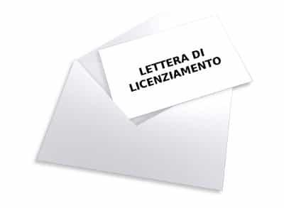 lettera di licenziamento