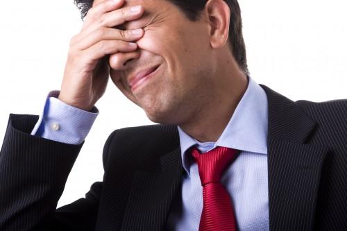 Uomo d'affari mal di testa