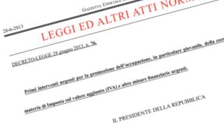 Decreto Lavoro 2013