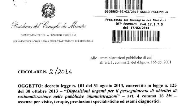 Circolare n. 2/2014 la Funzione Pubblica