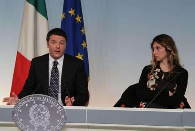Ministro Madia - Presidente del Consiglio Renzi