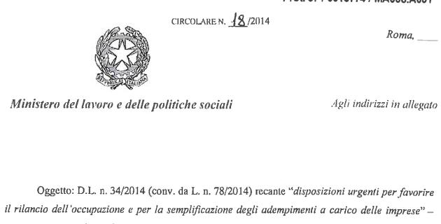 Jobs Act Ministero del Lavoro