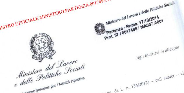 Ministero del Lavoro Nota 17 ottobre 2014 n. 17495