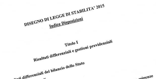 legge di stabilita 2015 testo integrale