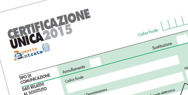 Certificazione Unica 2015