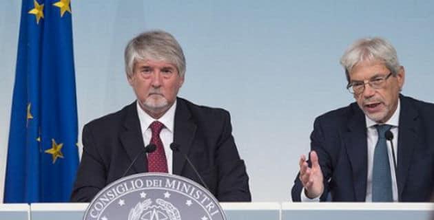 Conferenza stampa Giuliano Poletti e Claudio De Vincenti