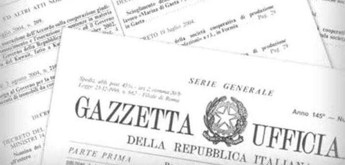 Schema di convenzione patronato, in G.U. il Decreto