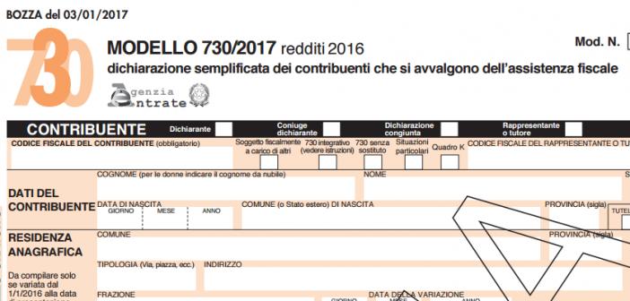 Modello 730 2017, elenco delle nuove agevolazioni