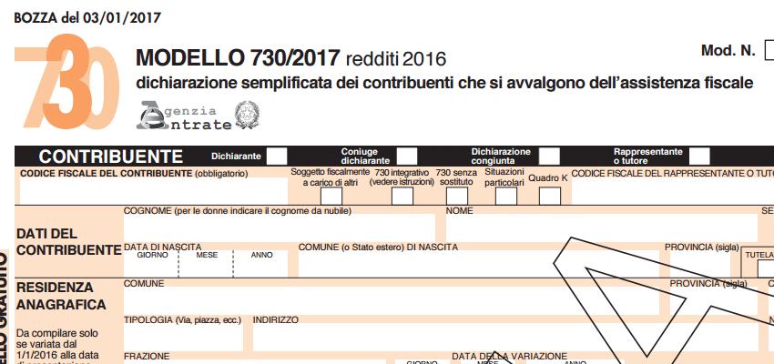Modello 730 2017 ecco alcune novit sulle agevolazioni for Modulo 730 anno 2017