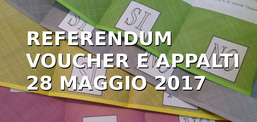 Risultati immagini per Voucher appalti  e referendum