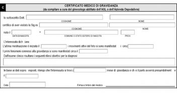 certificati di gravidanza online