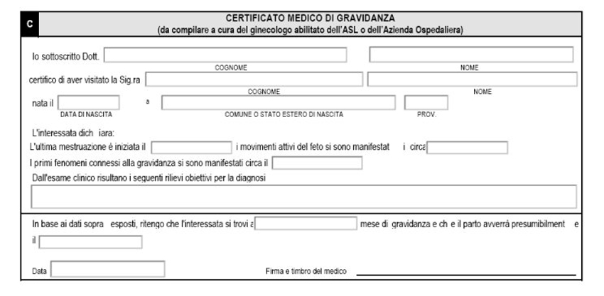 certificato medico inps