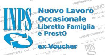 Lavoro Occasionale PrestO e Libretto Famiglia (ex Voucher), Circolare INPS