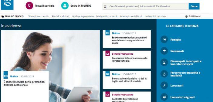 Prestazioni di lavoro occasionale INPS, online la piattaforma gestionale