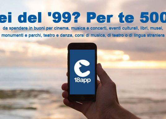 18App, il bonus cultura di 500 euro al via anche per i nati nel 1999