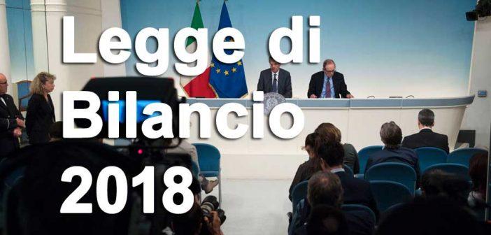 Legge di Bilancio 2018: novità su lavoro, pensioni, welfare, fisco e imprese