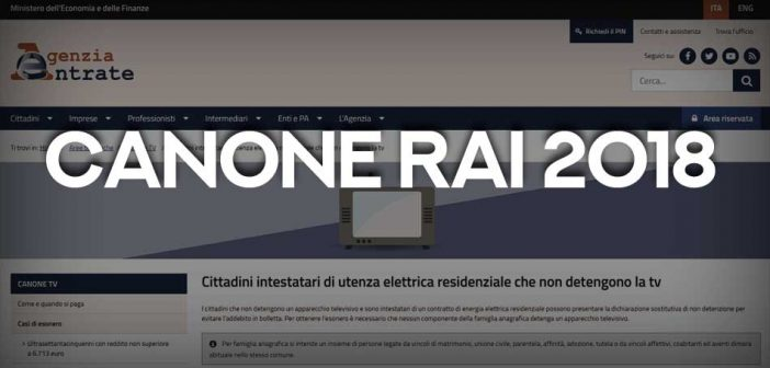 Canone RAI 2018, come richiedere l'esenzione