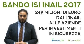 Bando ISI INAIL 2017, avviso pubblico per finanziamenti alle imprese nel 2018