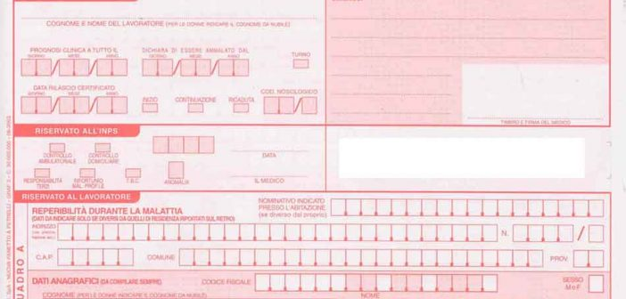certificato malattia inps