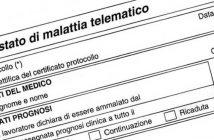 Certificato medico di malattia INPS