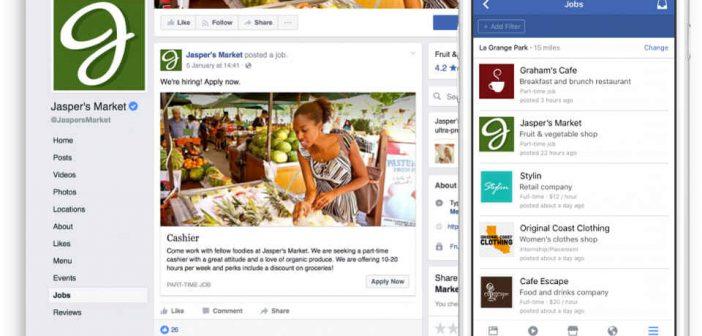 Facebook Jobs anche in Italia, trovare lavoro con il social network