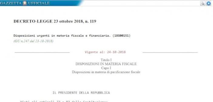 Decreto fiscale, testo del collegato alla Legge di Bilancio in Gazzetta