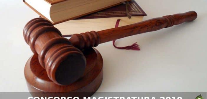 Concorso Magistratura 2019