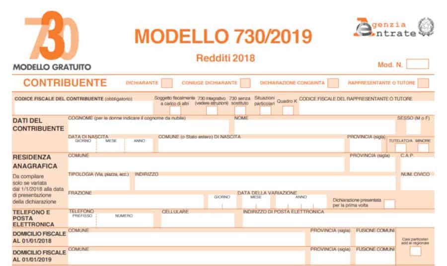 Modello 730 2019 istruzioni e scadenze per la for 730 documenti