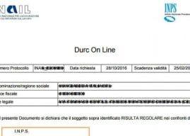 Durc on line Covid: validità estesa fino al 29 ottobre 2020