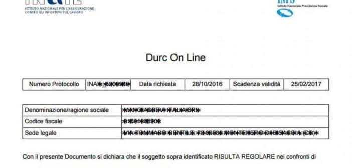 Verificare la regolarità contributiva - Durc online - INAIL