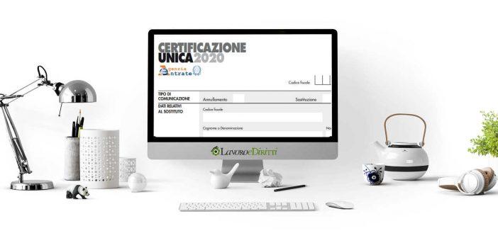 Certificazione Unica 2020
