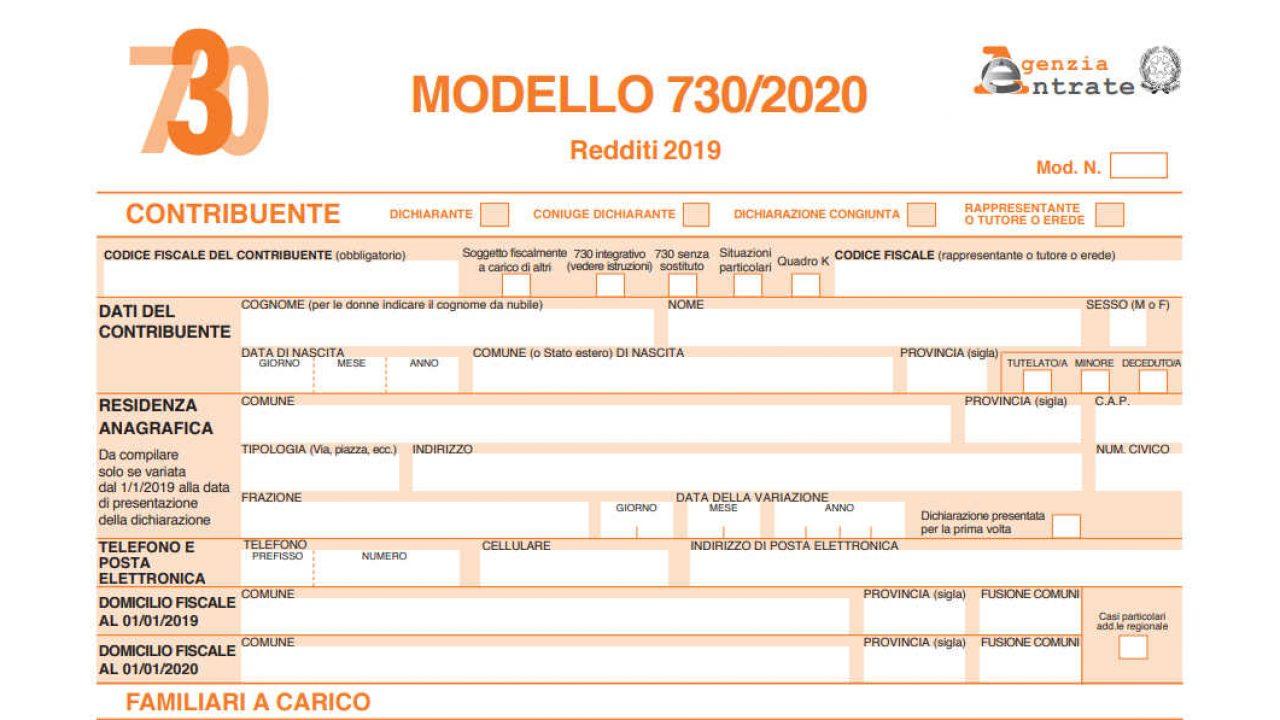 MODELLO 730 PRECOMPILATO INPS SCARICA