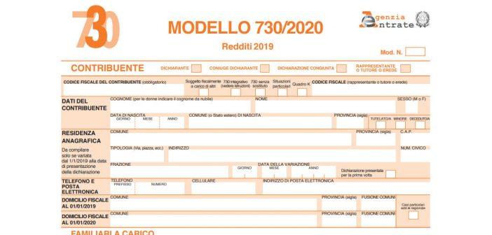 modello 730 2020