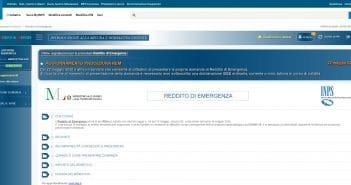 Domanda di reddito di emergenza
