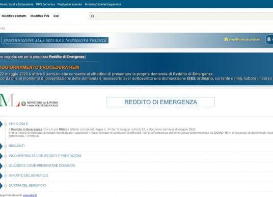 Reddito di emergenza giugno, luglio, agosto e settembre 2021: domande dal 1° luglio