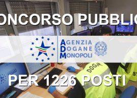Concorso Agenzie delle Dogane 1226 posti: bandi, requisiti e domanda