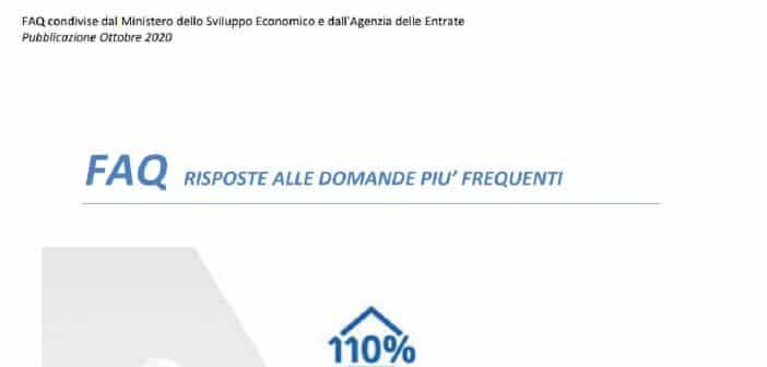 Superbonus 110%, FAQ ENEA