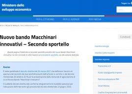 Nuovo Bando Macchinari Innovativi: compilazione domande dal 13 aprile