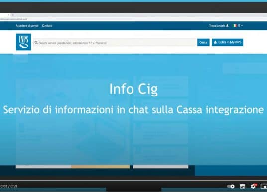 Info CIG, servizio assistenza cassa integrazione INPS in chat: come funziona (video)