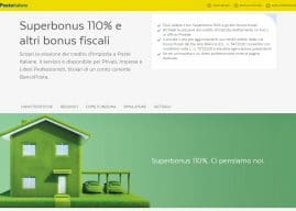 Superbonus 110, cessione del credito a Poste Italiane: simulatore online per i bonus casa
